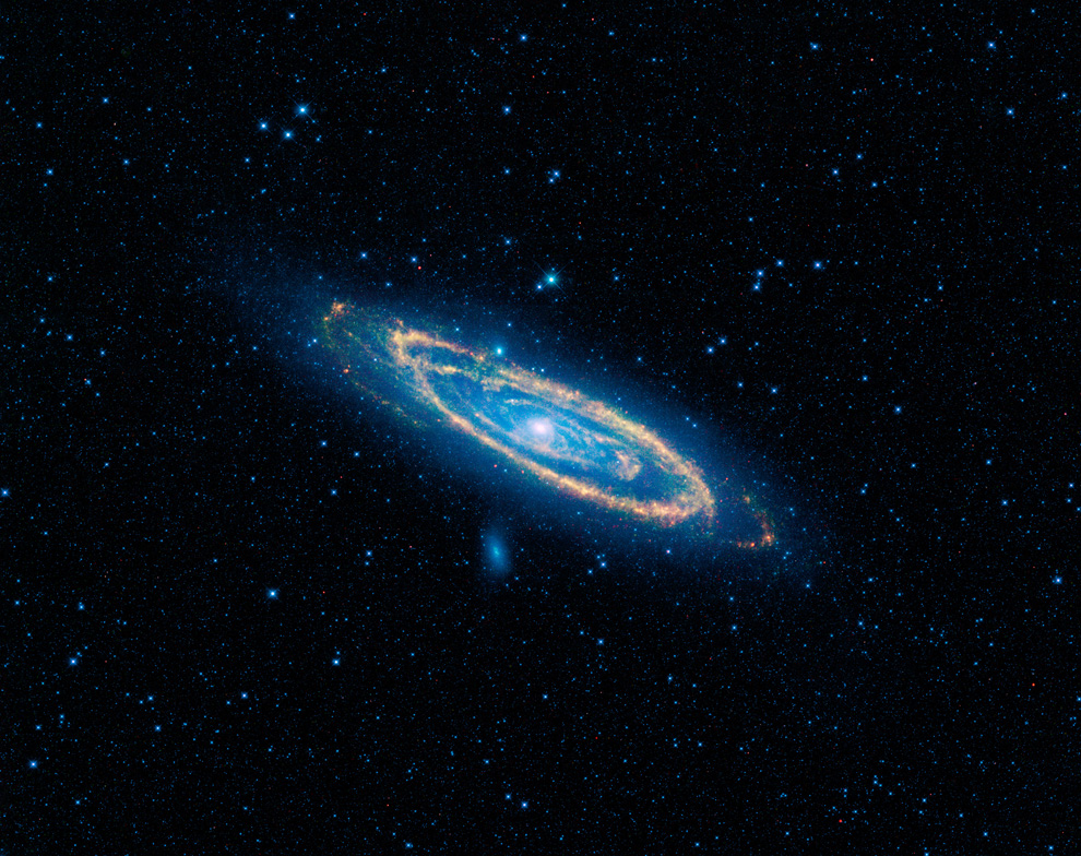 WISE Infrared View of Andromeda Galaxy and Companions